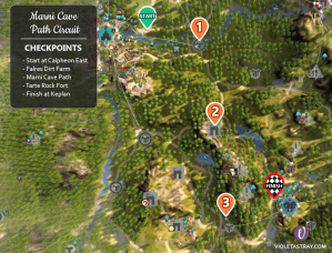 Black Desert Online BDO Marni Cave Path - Horse Racing Map