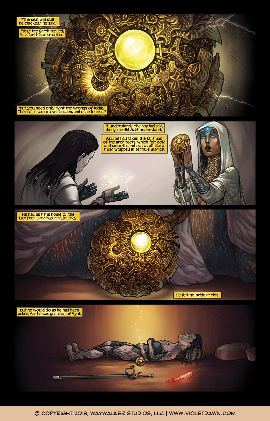 Violet Dawn: Exile – Issue 1, Page 10