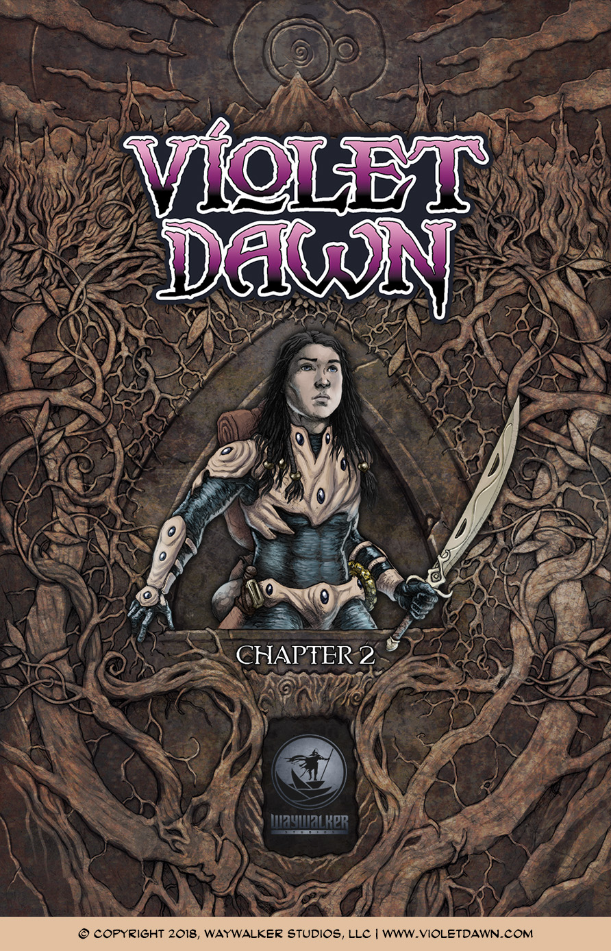 Violet Dawn: Exile – Issue 2, Cover