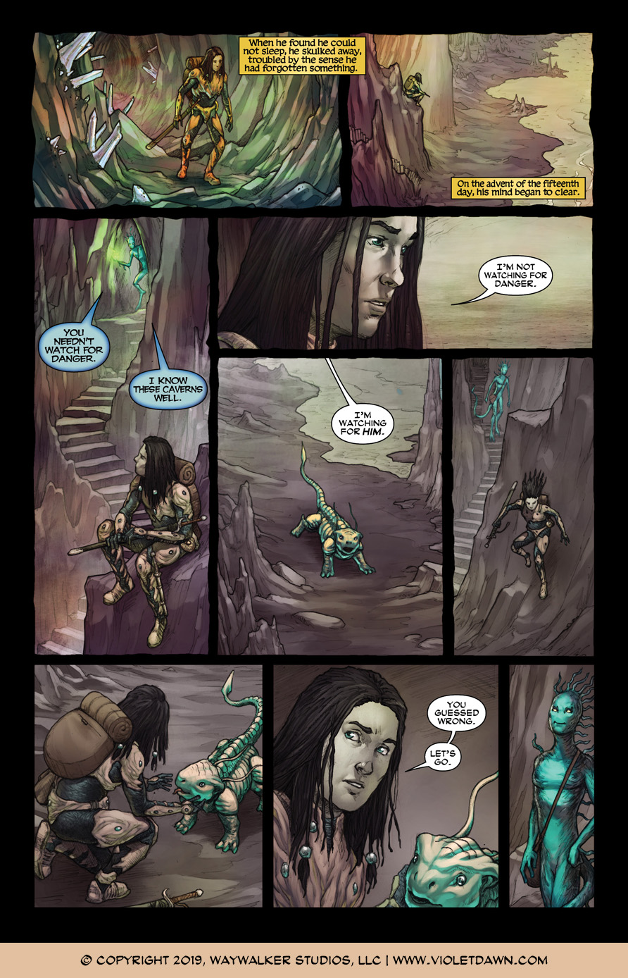 Violet Dawn: Exile – Issue 3, Page 6