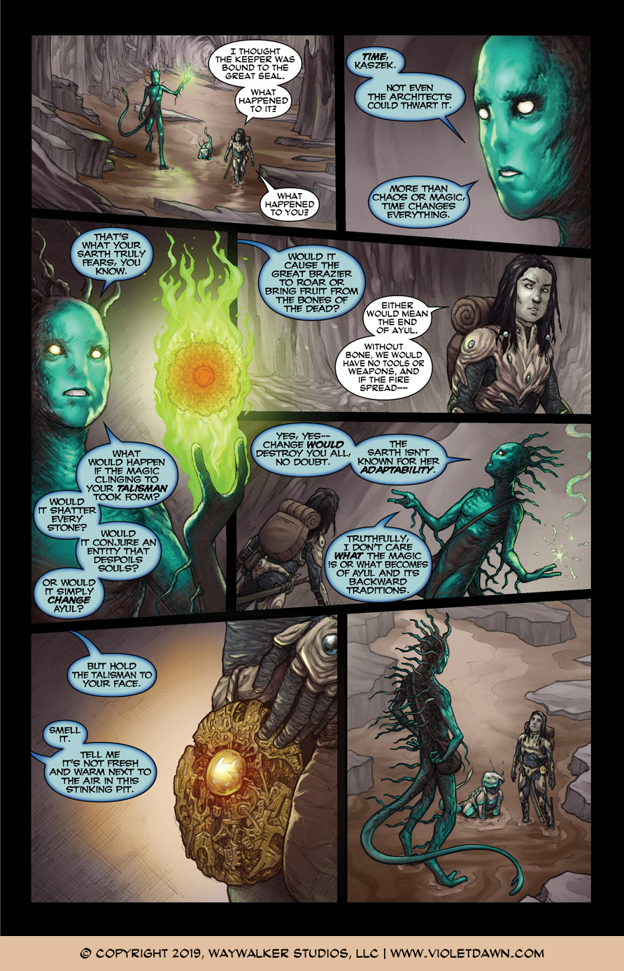 Violet Dawn: Exile – Issue 3, Page 7