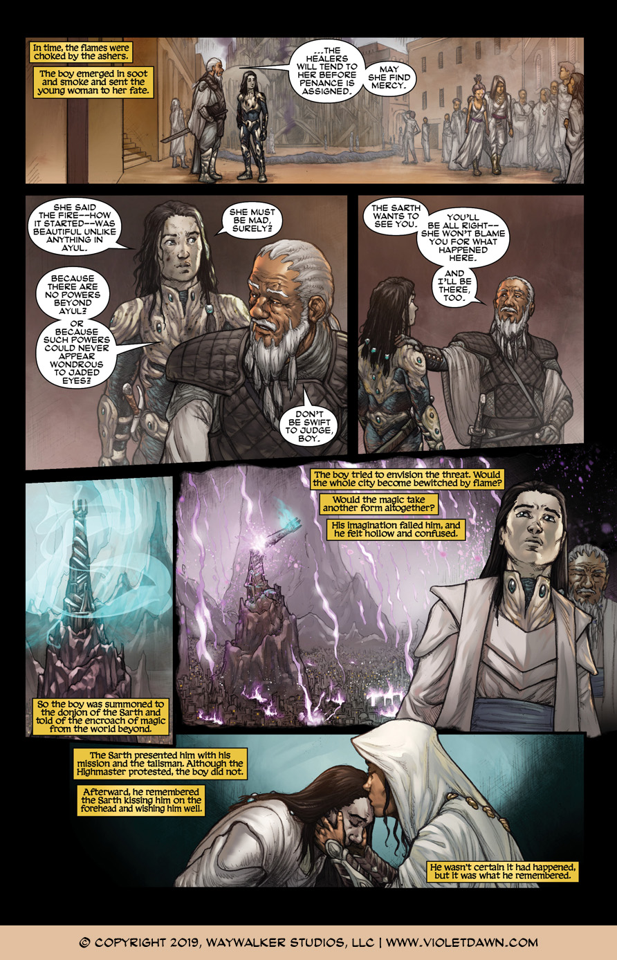 Violet Dawn: Exile – Issue 4, Page 9
