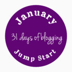 "purple badge for ""january jump start"" a 31 day blogging challenge"