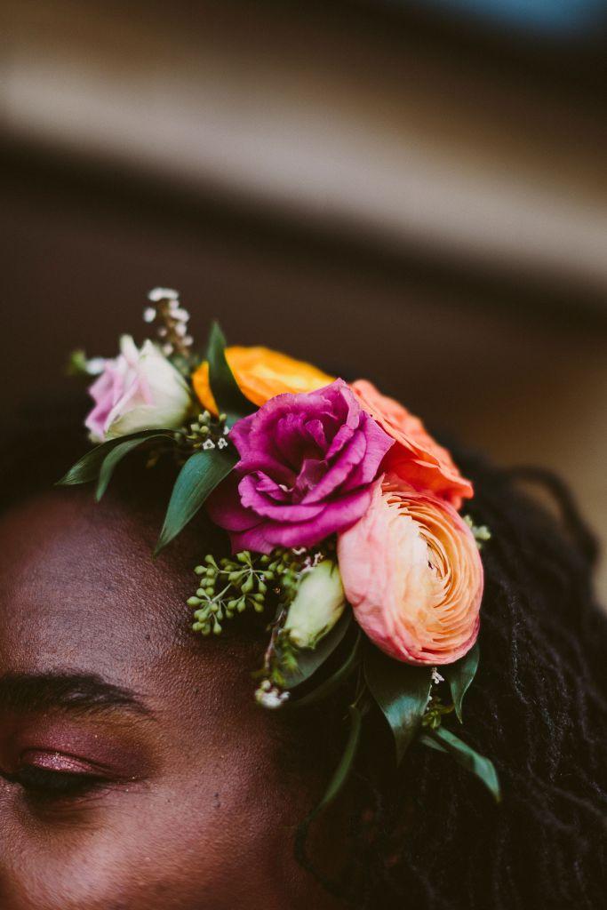 Best Baltimore Wedding Florist, Baltimore Weddings, Floral Hair Accent for Bride