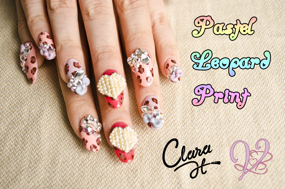Anese 3d Nail Art Pastel Leopard Print Clara H Violet Lebeaux Tales Of An Ingenue