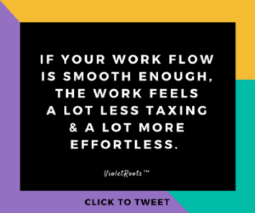 Creativepreneur Tips: Creative Work Flow 2