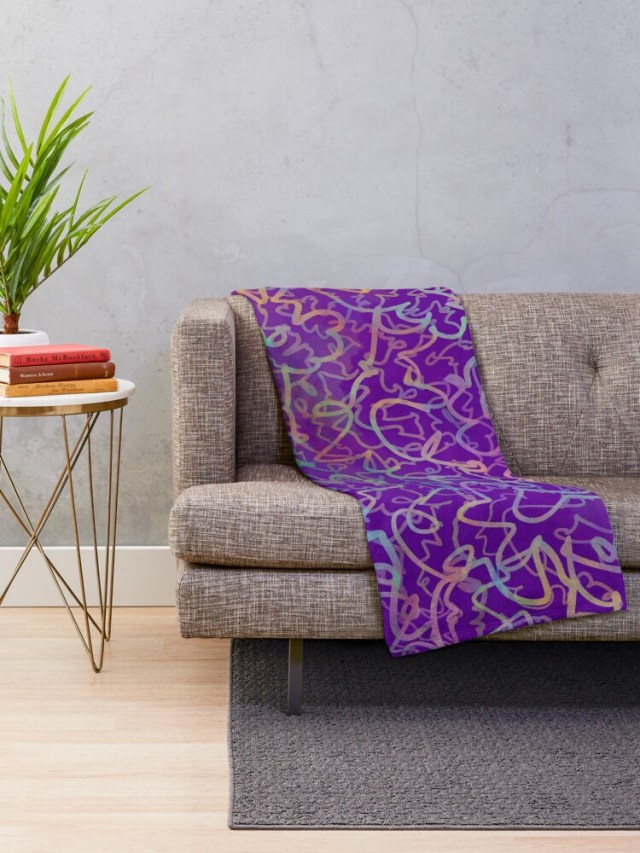 Shop Violet Roots - Abstract Blanket - Trivia