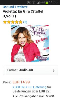Die Violettta:Engira-CD bei Amazon