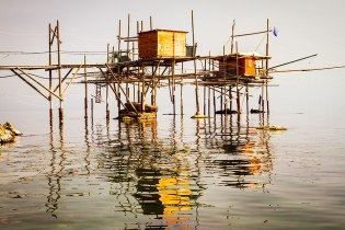 Trabocco in the morning haze.