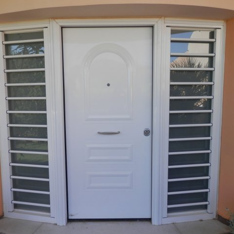 Security bars to an entrance door