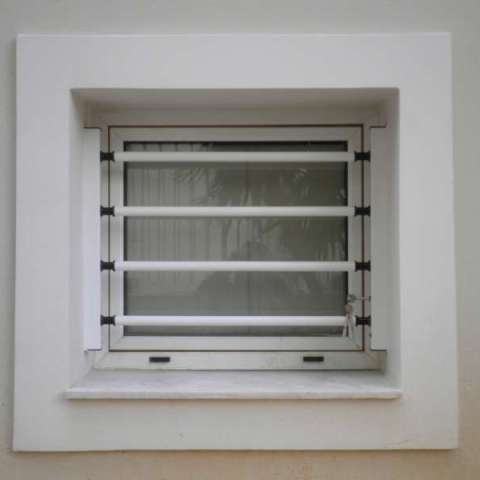 Removable Security Bars on a WC bathroom window