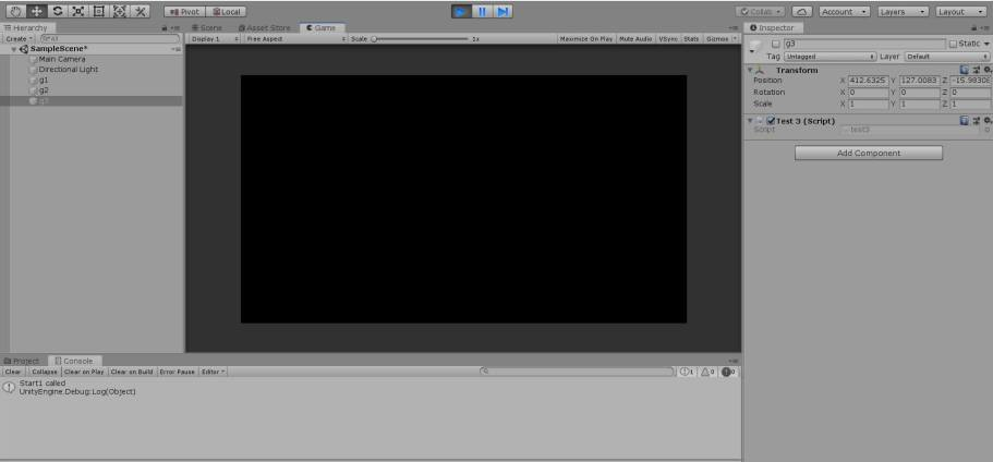 Unity start with some scripts enabled and some game objects enabled.