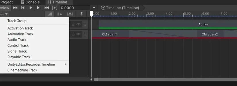 create a Cinemachine Track