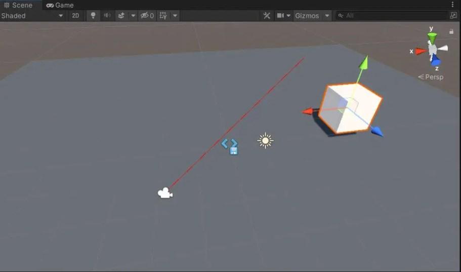 Draw ray in Unity editor