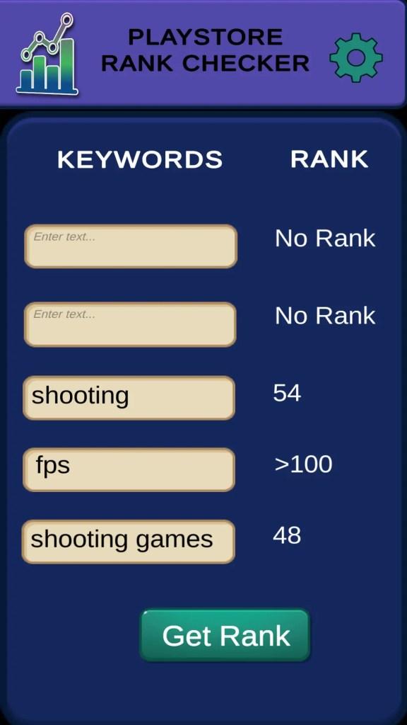 app rank checker results