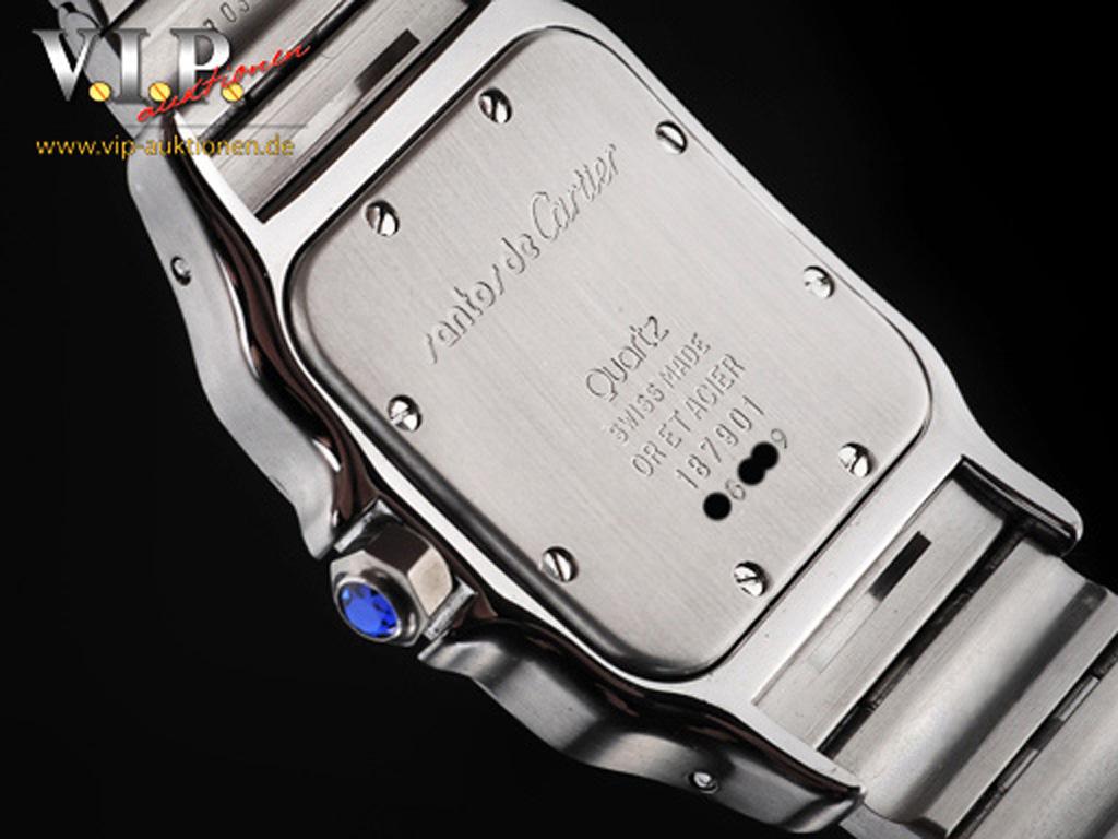 Cartier Santos Montre Uhr Herrenuhr Damenuhr Stahl 18k