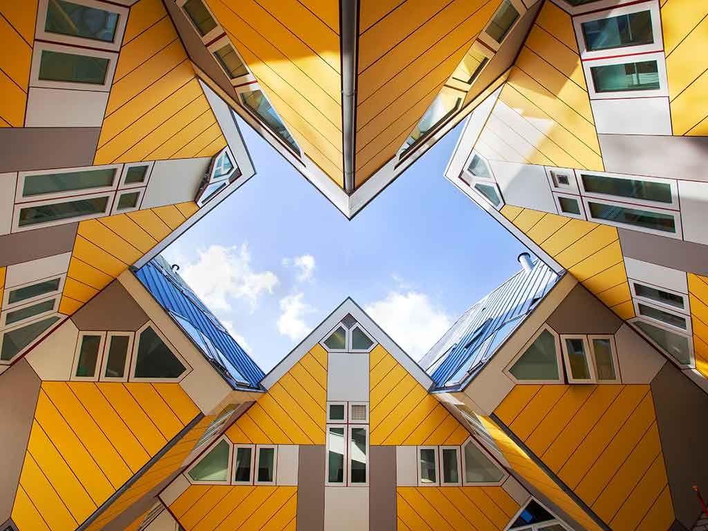 Yellow Cubic Houses