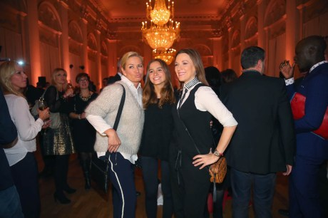 MUNICH, GERMANY - FEBRUARY 05: Claudia Effenberg attends with Alena Gerber (C) and Simone Ballack (R) the Salvatore Ferragamo Emozione Fragrance Launch event at Residenz on February 5, 2015 in Munich, Germany. (Photo by Alexander Hassenstein/Getty Images for Salvatore Ferragamo) *** Local Caption *** Claudia Effenberg; Alena Gerber; Simone Ballack