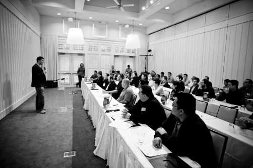 Raanan Bar-Cohen addresses participants at the VIP Developer Workshop 2012