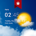 Transparent clock weather Ad-free Paid Mod APK 4.0.1.3