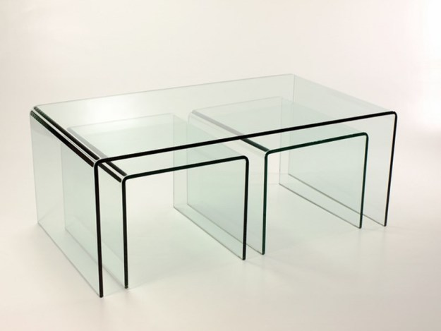 acrylic coffee table with matching stools | coffee tables