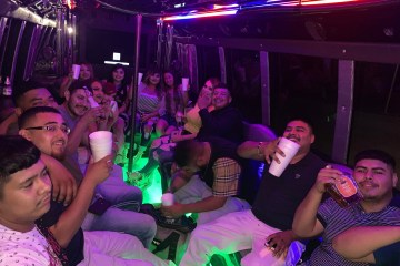 amazing night in a party bus