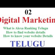 Digital Marketing Class 02 | What is Alexa Ranking Telugu | How to find website details-vlr training