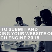 How to submit and ranking your website on search engine 2018