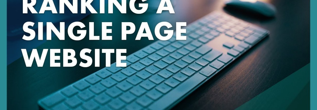 Ranking a Single Page Website