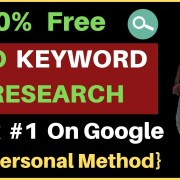 100% FREE Keyword Research for SEO in 2019 | My Personal Method | Rank Your Site on Google