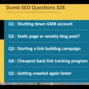 Dumb SEO Questions 328.