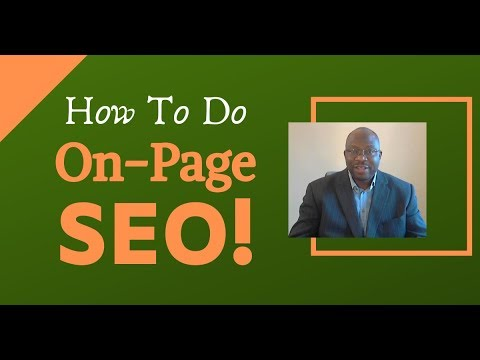 How To Do On page SEO