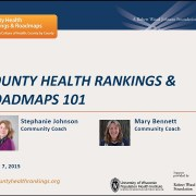 County Health Rankings & Roadmaps 101 Website Tour