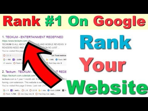 EASIEST WAY TO RANK ANY WEBSITE ON GOOGLE | RANK WEBSITE 2019 | BEST WAY TO RANY WEBSITE  IN GOOGLE