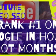 GOOGLE SEO and YOUTUBE VIDEO SEO | RANK FIRST PAGE of GOOGLE in HOURS