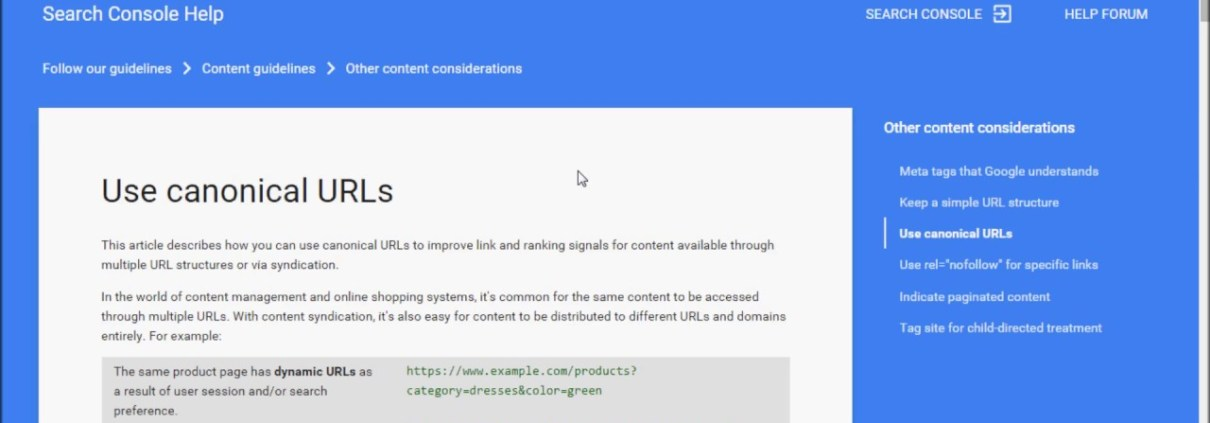 How to create Canonical tag for SEO