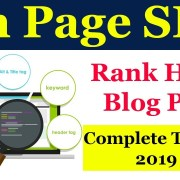 On Page SEO in Hindi | Ultimate Guide to On-Page SEO in 2019 Rank  First Page - 2019