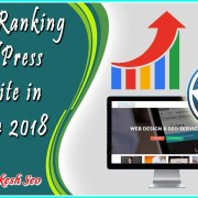 How to ranking wordpress website in google 2018