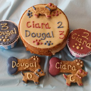 Dogs Double Celebration Cake