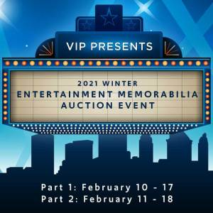 2021 Winter Entertainment Memorabilia Auction