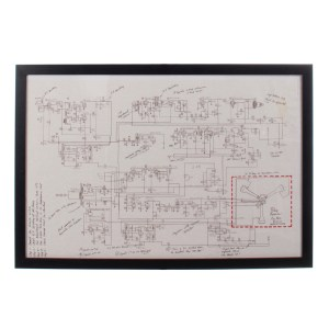 Lot #15 – Back to Future III (1990) Production Used Framed Schematic Of The Flux Capacitor