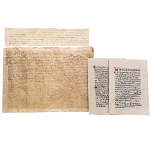 Lot #35 – Vikings Screen Used Winchester Monastery Documents & Book Set Ep 203