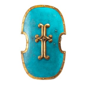 Lot #37 – Vikings Screen Used French Army Shield Ss 3-5