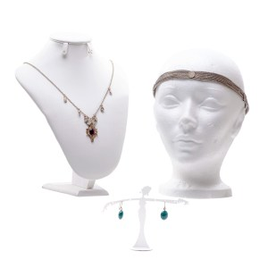 Lot #172 – Vikings Ingrid Lucy Martin Production Worn Heapiece Earrings & Necklace