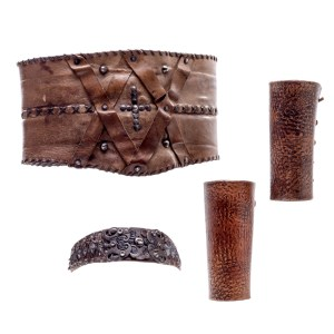 Lot #24 – Vikings Viking Female  Production Worn Headpiece Cuffs & Belt