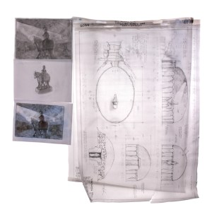 Lot #83 – Vikings Production Used Concept Art Drawings Of Bjorn's Tomb  Ss 6