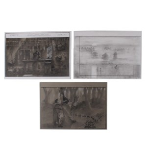 Lot #592 – Vikings Production Used Judith's Remedy For Alfred & Escape Hut Sketches Ss 5