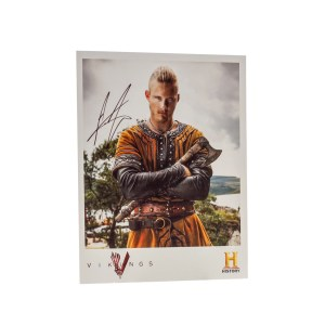 Lot #298 – Vikings (2013-2020) Bjorn Lothbrok Alexander Ludwig Autographed Photo Ss 3