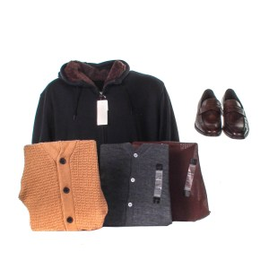 Lot #75 – Respect CL Franklin Forest Whitaker Production Closet Sweater Set Sweatshirt & Shoes