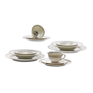 Lot #24 – Respect Franklin Family Screen Used China Set Sc 56